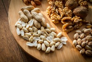 nuts contain magnesium that helps you cope with stress
